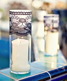 Black and White Wedding Details -- or have change the colors to match the theme
