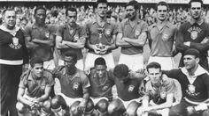 WM 1958 in Schweden - Weltmeister Brasilien: Brasilien besteigt mit einem 5:2 gegen den Gastgeber zum ersten Mal den Fußball-Thron.