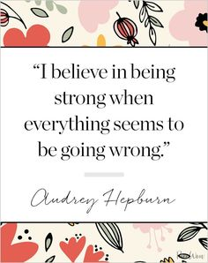 To call Audrey Hepburn an icon is an understatement. Think about it: What other actress has won an Oscar, served as a designer muse (to Givenchy) and . Stay Motivated Quotes, How To Stay Motivated, Favorite Quotes, Best Quotes, Funny Quotes, Quotes Quotes, Feeling Meh, Motivational Quotes, Inspirational Quotes