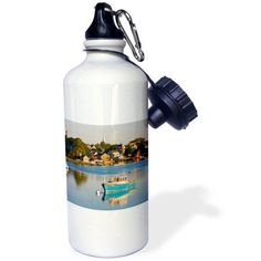 3dRose Lobster fishing boat, Piscataqua River, NH - US30 JMO0932 - Jerry and Marcy Monkman, Sports Water Bottle, 21oz
