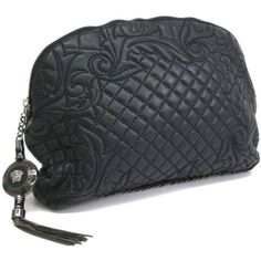 Pre-owned Versace Clutch (10 200 ZAR) ❤ liked on Polyvore featuring bags, handbags, clutches, apparel & accessories, wallets & cases, purse clutches, handbag purse, handbag pouch, purse pouch and leather hand bags