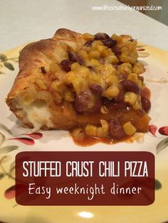 Stuffed crust chili