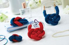 Nautical crochet jewellery