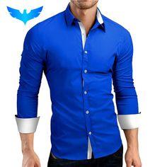 >> Click to Buy << QINGYU Men Shirt Brand 2017 Male High Quality Long Sleeve Shirts Casual Hit Color Slim Fit Black Man Dress Shirts 4XL C936 #Affiliate