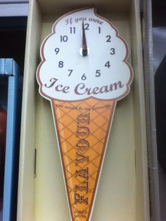 A clock for Kaito-kun Kaito Shion, Is 11, Cooking Timer, Ice Cream, Clock, Decor, No Churn Ice Cream, Watch, Decoration