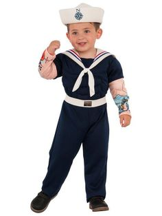 Rubie's Costume Co Muscle Man Sailor Dress-Up Outfit - Kids Sailor Halloween Costumes, Halloween Fancy Dress, Funny Halloween, Costumes For Teens, Boy Costumes, Adult Costumes, Dress Up Outfits, Kids Outfits, Bebe