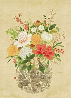'국내 최초' 민화아트페어! 아름다운 우리 민화를 한 자리에서 감상하고 즐길 수 있는 대규모 민화축제! 제... Asian Flowers, Plum Flowers, Bunch Of Flowers, Korean Art, Asian Art, Illustration Blume, Traditional Paintings, Nature Paintings, Botanical Art