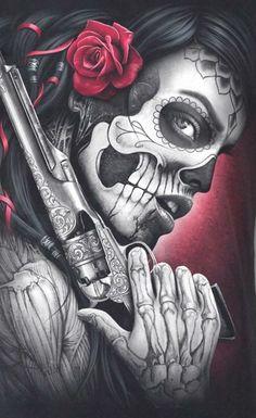 Drawing Tattoo Chicano Dia De 69 New Ideas Tattoo Crane, Chicanas Tattoo, Tattoo Drawings, Chicano Art Tattoos, Body Art Tattoos, Sleeve Tattoos, Tattoo Girls, Girl Tattoos, Tattoos For Women