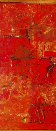 """Red Painting"", by Robert Rauschenberg Robert Rauschenberg, Tachisme, Franz Kline, Jasper Johns, Jackson Pollock, Joan Mitchell, Willem De Kooning, Camille Pissarro, Richard Diebenkorn"