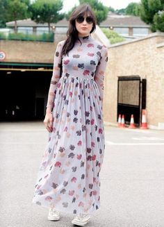 Maxi printed dress-Woman trendy outfits in casual style – Just Trendy Girls