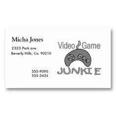 20 Best Video Game Business Cards Images Business Card Design