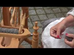 Hand spinning Shetland Wool