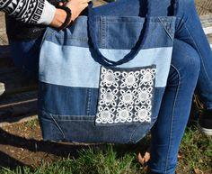 Denim Bag Denim Purse Denim Crossboby Bag Boho bag by PrettyMarry