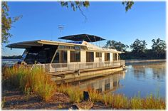 River Image houseboat moored at Renmark on the Murray River, South Australia.