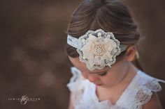 Fabric & Lace flower