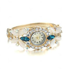 Women's Watch Crystal Opal Watch Rose Gold Plating Bracelet Cool Watches Unique Watches Fashion Watch 2016 - $7.99