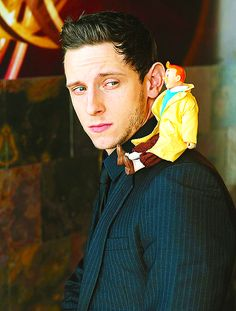 jamie bell | Tumblr oh my gosh!!!! love this picture! he even has a mini Tintin doll!!!! haha