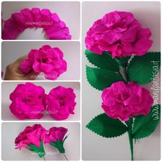 rose in carta crespa 6 modi per realizzarle facilmente - manifantasia Handmade Flowers, Diy Flowers, Fabric Flowers, Paper Flowers Wedding, Tissue Paper Flowers, Flower Step By Step, Diy And Crafts, Paper Crafts, Paper Folding