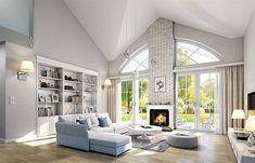 Zdjęcie projektu Dom na Parkowej 2 WAH1845 Beautiful House Plans, Dream House Plans, Cottage Plan, Cottage Homes, Minimalist House Design, Minimalist Home, Loft House Design, Bungalow Style House, 30x40 House Plans