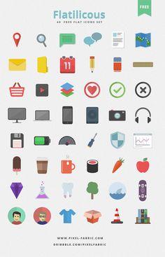 Flatilicious - 48 Free Flat Icons