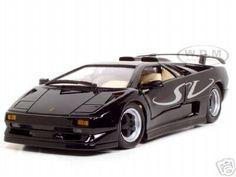 Click Image Above To Buy: Lamborghini Diablo Sv Diecast Model Black 1/18 Die Cast Car By Maisto