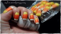 Candy corn finger nails!