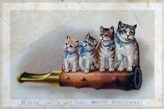A cute victorian christmas card