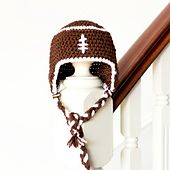 Soft Shells Baby Earflap Hat Crochet Pattern : 1000+ images about CROCH/KNIT SPORT THEMES on Pinterest ...