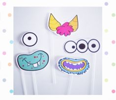 Monster mask - quickparty - https://www.etsy.com/it/listing/220099116/mascherine-a-tema-mostri-fai-da-te-pdf?ref=shop_home_active_2