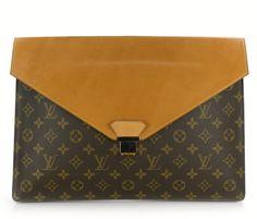 Vintage Louis Vuitton Monogram Leather Envelope Portfolio #bags #fashion