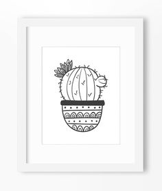 Cactus Art, Cactus Print, Cactus Wall Art, Cactus Wall Print, Cactus Drawing, Cactus Illustration, Cartoon Cactus, Potted Cactus, Cute by Abodica on Etsy https://www.etsy.com/listing/234711813/cactus-art-cactus-print-cactus-wall-art