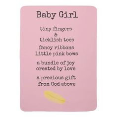 Shop baby girl stroller blanket created by leahslounge. New Baby Poem, Baby Girl Poems, Newborn Baby Girl Quotes, Welcome Baby Girl Quotes, New Baby Quotes, Little Girl Quotes, Welcome Baby Girls, Baby Girl Cards, New Baby Girls