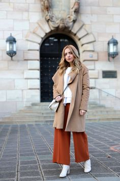 Want Get Repeat Blog Culotte Camel Coat Outfit