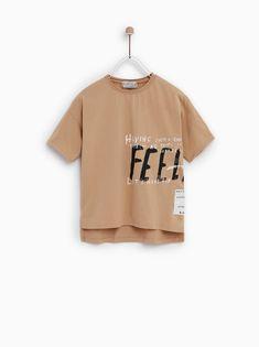 Shirt Logo Design, Tee Shirt Designs, Tee Design, Boys T Shirts, Tee Shirts, T Shirts For Women, Zara Fashion, Kids Fashion, Kids Outfits