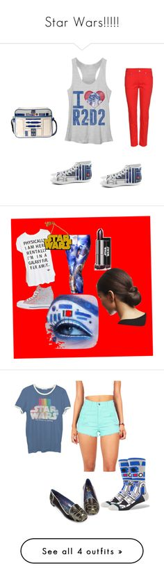 """Star Wars!!!!!"" by brylove0125 ❤ liked on Polyvore featuring Alexander McQueen, Forever 21, Converse, Chicnova Fashion, Junk Food Clothing, Stance, Irregular Choice, beauty, R2 and Loungefly"