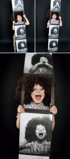 this would work great for kids AND adults. // Homemade Halloween Photobooth Strip Costume | Oh Happy Day!