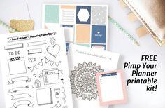 Free printable planner kit