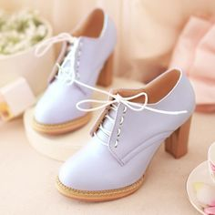 England Spring 2014 new European single high-heeled shoes with thick waterproof shoes lace round deep mouth