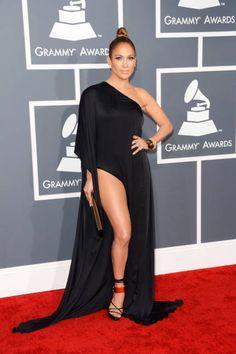 Jennifer Lopez wearing Anthony Vaccarello - 55th Annual Grammy Awards, Feb. 10, 2013
