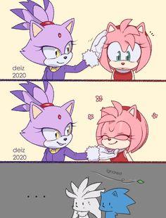 Sonic The Hedgehog, Silver The Hedgehog, Hedgehog Drawing, Hedgehog Art, Sonic And Amy, Sonic And Shadow, Cream Sonic, Sonamy Comic, Sonic Unleashed