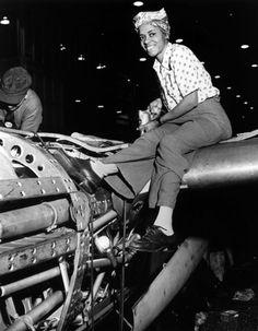 African American war worker c.1940's