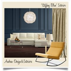 Stiffkey Blue Colour - Farrow&Ball by andrea-szakos on Polyvore featuring interior, interiors, interior design, home, home decor, interior decorating, Gus* Modern, Williams-Sonoma, Tom Dixon and Worlds Away