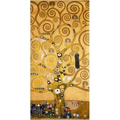 Trademark Fine Art Tree of Life (Soclet Frieze) 1905 Canvas Art by Gustav Klimt, Size: 10 x 19, Multicolor