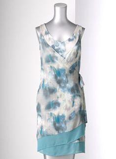 Simply Vera Vera Wang Watercolor Wrap Dress