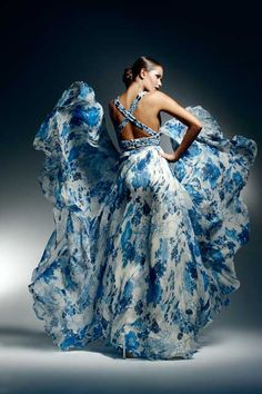 Crazy dress. Looks a little like clouds.