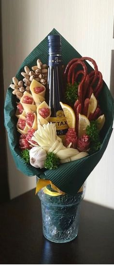 food bouquet for him . food bouquet diy how to make . food bouquet for him valentine day ideas . Food Bouquet, Man Bouquet, Bouquet For Men, Beer Bouquet, Flowers For Men, Beautiful Bouquet Of Flowers, Gift Flowers, Bouquet Flowers, Birthday Wishes Flowers