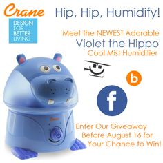 Hip, Hip Humidfy with Violet The Hippo cool mist humidifier giveaway