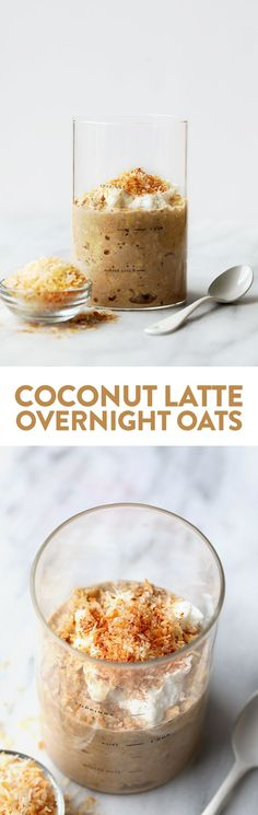 Got 5 minutes? Whip up these delicious coconut latte vegan overnight oats for an easy, fiber-filled breakfast that are oh-so-delish! This overnight oatmeal recipe only requires 5 simple and healthy ingredients to make and this breakfast that will have you full all morning long.