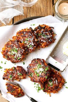 Transform any pasta and sauce combo into pasta fritters.