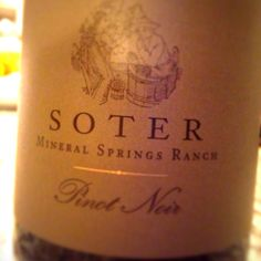 2009 Soter mineral springs Pinot Noir from Oregon